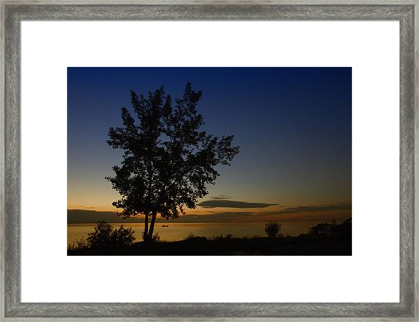 Last One On The Lake Framed Print