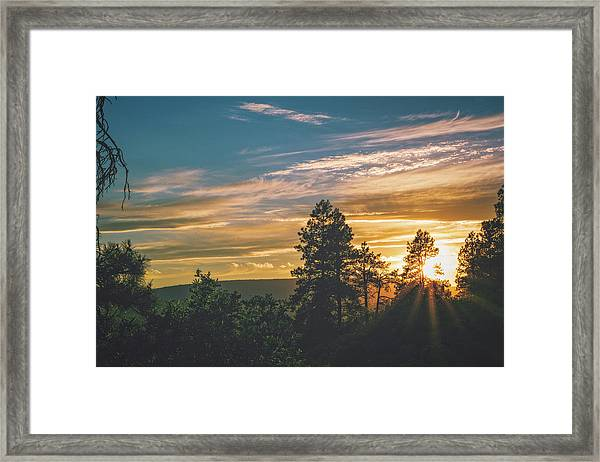 Framed Print featuring the photograph Last Rays Of Sunday by Jason Coward