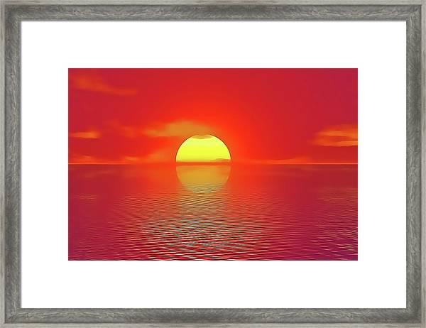Last Sunset Framed Print