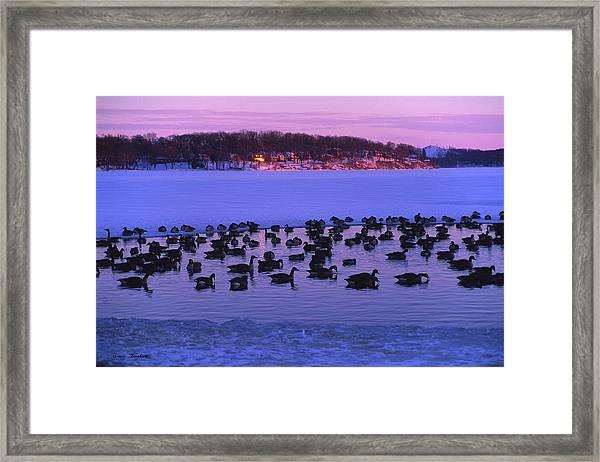 Last To Leave - Lake Geneva Wisconsin Framed Print