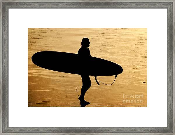 Last Wave Framed Print