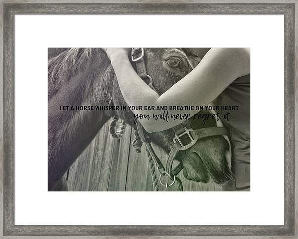 Last Whisper Quote Framed Print