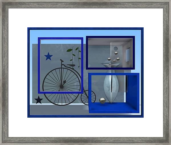 Last Years In Blue Framed Print