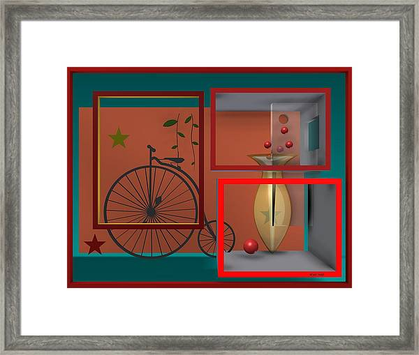 Last Years In Red Framed Print