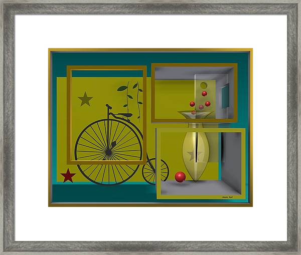 Last Years In Yellow Framed Print