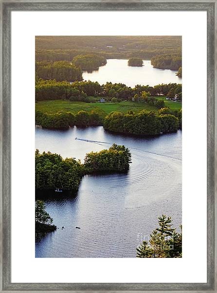 Late Afternoon On Lake Megunticook, Camden, Maine -43988 Framed Print