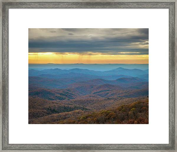 Late Autumn Vista Framed Print