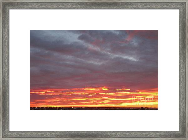 Late Prairie Sunrise Framed Print