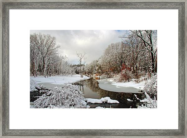 Late Winter Storm Framed Print