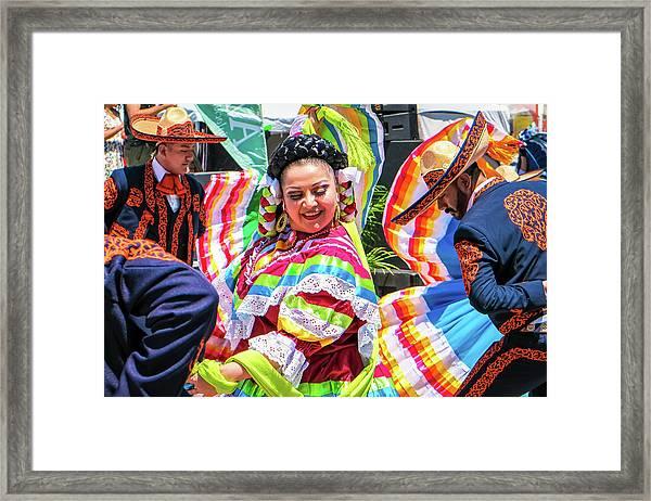 Latino Street Festival Dancers Framed Print