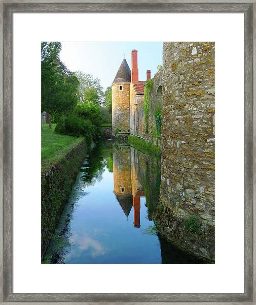 L'aubraie Tower Reflection Framed Print