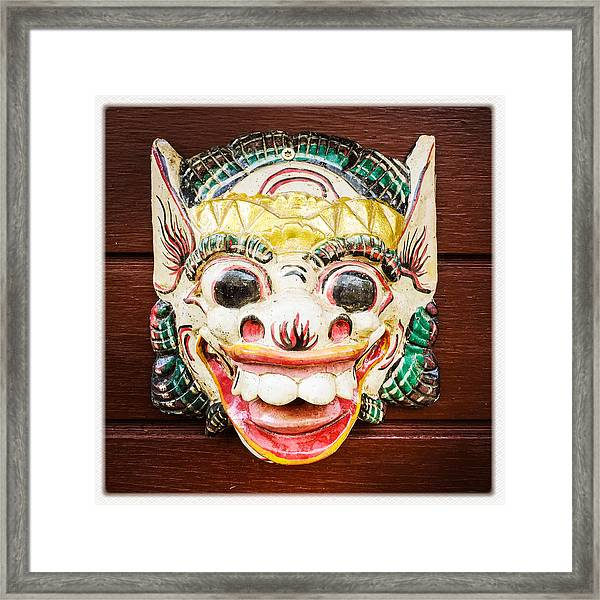 Laughing Mask Framed Print