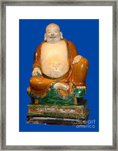 Laughing Monk Framed Print