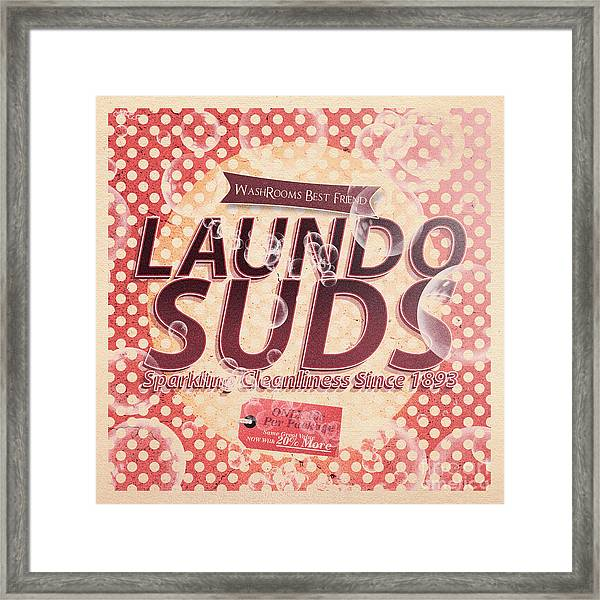Laundo Soap Suds Advertising Framed Print