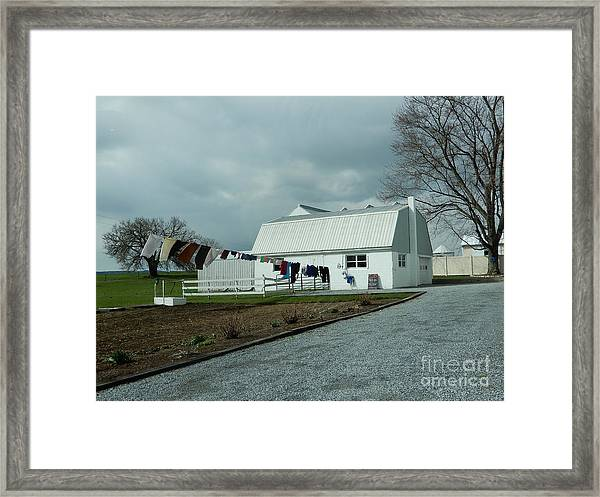 Laundry Day - Two Framed Print