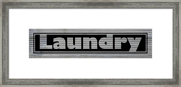 Laundry On Metal Framed Print