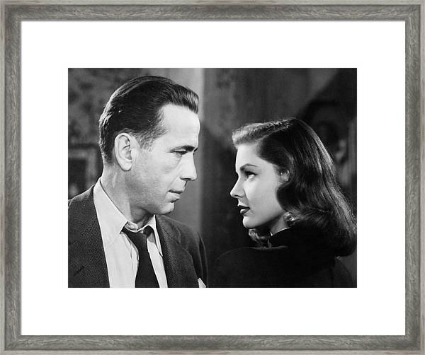 Lauren Bacall Humphrey Bogart Film Noir Classic The Big Sleep 2 1945-2015 Framed Print