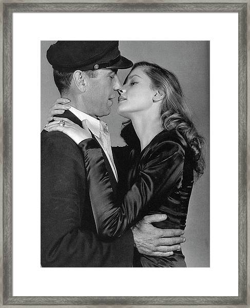 Lauren Bacall Humphrey Bogart To Have And Have Not 1944 Framed Print