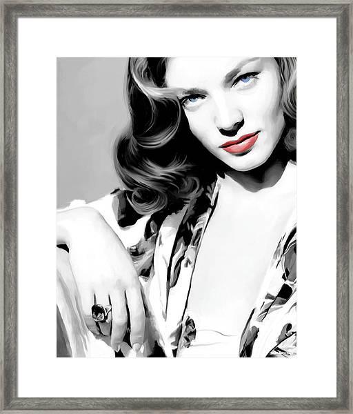 Lauren Bacall Large Size Portrait 2 Framed Print