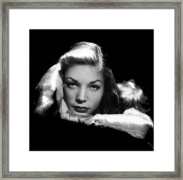 Lauren Bacall Publicity Photo Circa 1945-2015 Framed Print