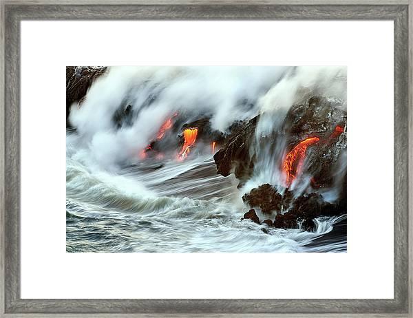 Lava And Ocean Framed Print