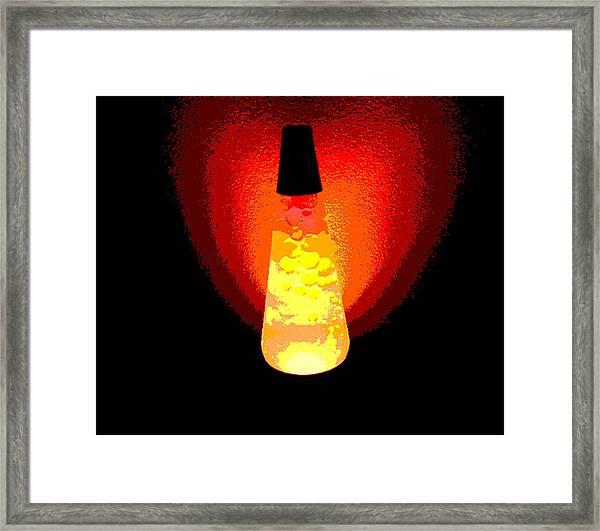 Lava Art Framed Print