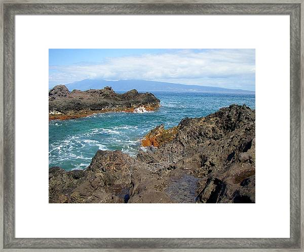 Lava Coastline - West Maui Framed Print