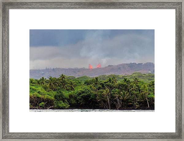 Lava Fountain Framed Print
