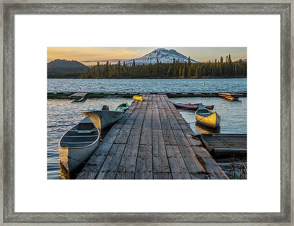 Lava Lake Evening  Framed Print