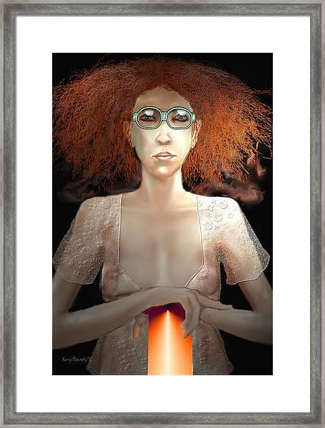 Lava Lamp Framed Print