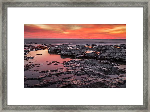 Lava Pits Framed Print