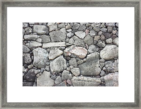 Lava Rock Wall 3 Framed Print