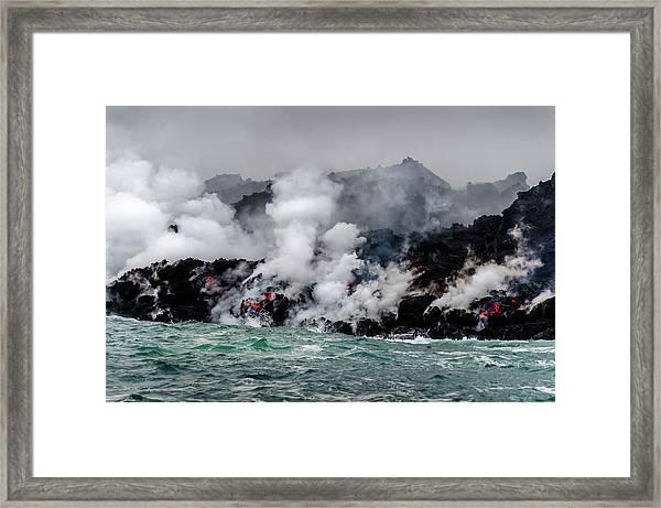 Lava Shelf Framed Print