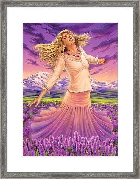 Lavender - Heal Through Joy Framed Print
