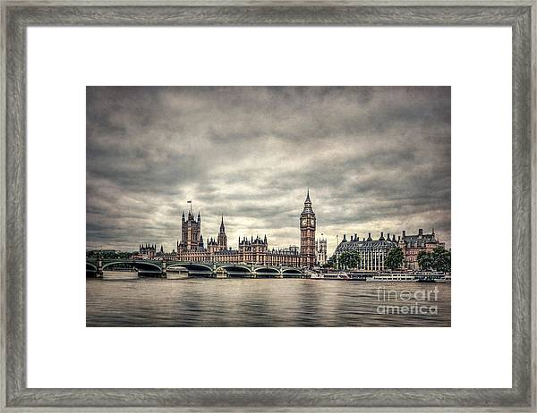 Lay Back And Think Of England Framed Print
