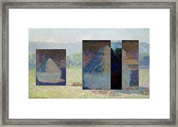 Layered 13 Monet Framed Print
