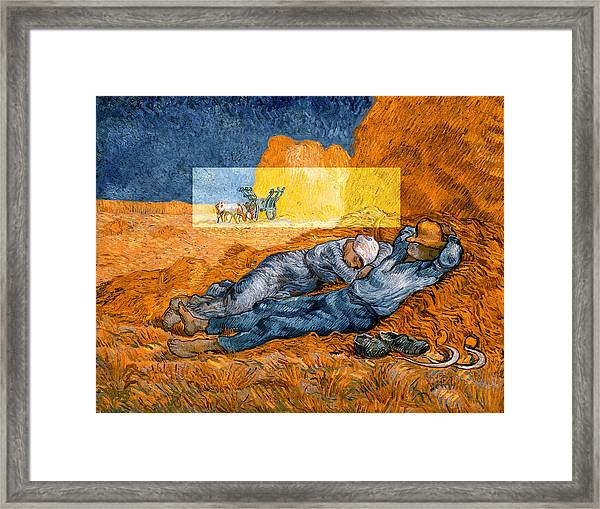 Layered 14 Van Gogh Framed Print