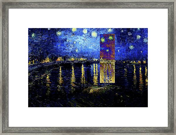 Layered 15 Van Gogh Framed Print