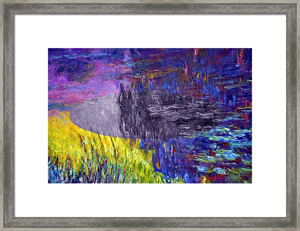 Layered 17 Monet Framed Print