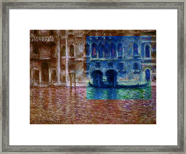 Layered 18 Monet Framed Print