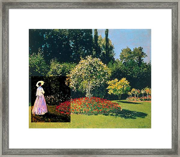 Layered 20 Monet Framed Print