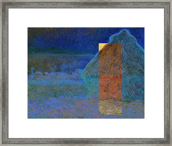 Layered 3 Monet Framed Print