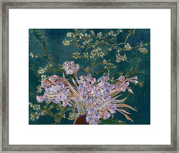 Layered 4 Van Gogh Framed Print