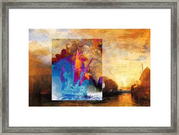 Layered 6 Turner Framed Print