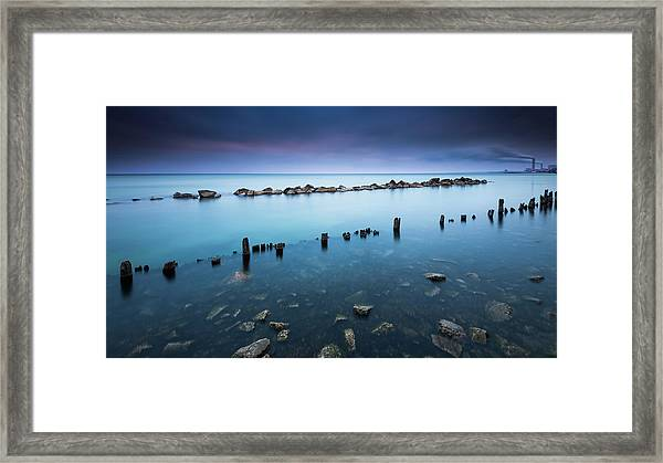 Layers Of Blue Framed Print