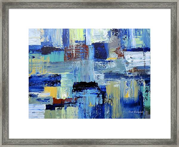 Layers Of Color Framed Print