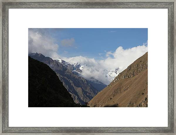 Layers Of Mountains Framed Print