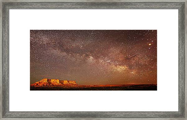 Lchee Rock Milky Way Panorama Framed Print