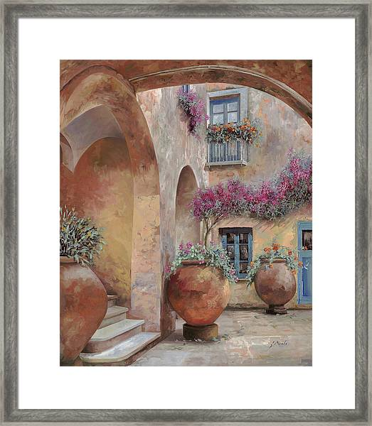 Le Arcate In Cortile Framed Print