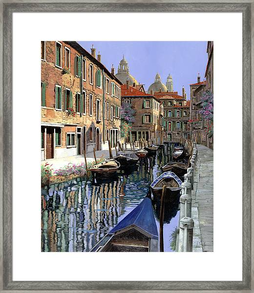 Le Barche Sul Canale Framed Print